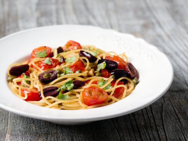 Edamame Spaghetti Puttanesca