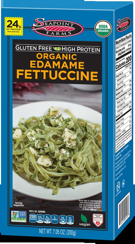 Organic<br> Edamame Fettuccine