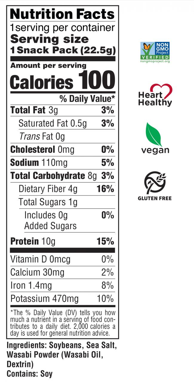 Dry Roasted Edamame Wasabi Nutrition Facts