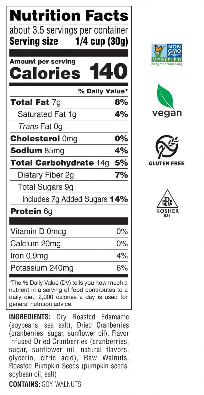 Harvest Blend Nutrition Facts