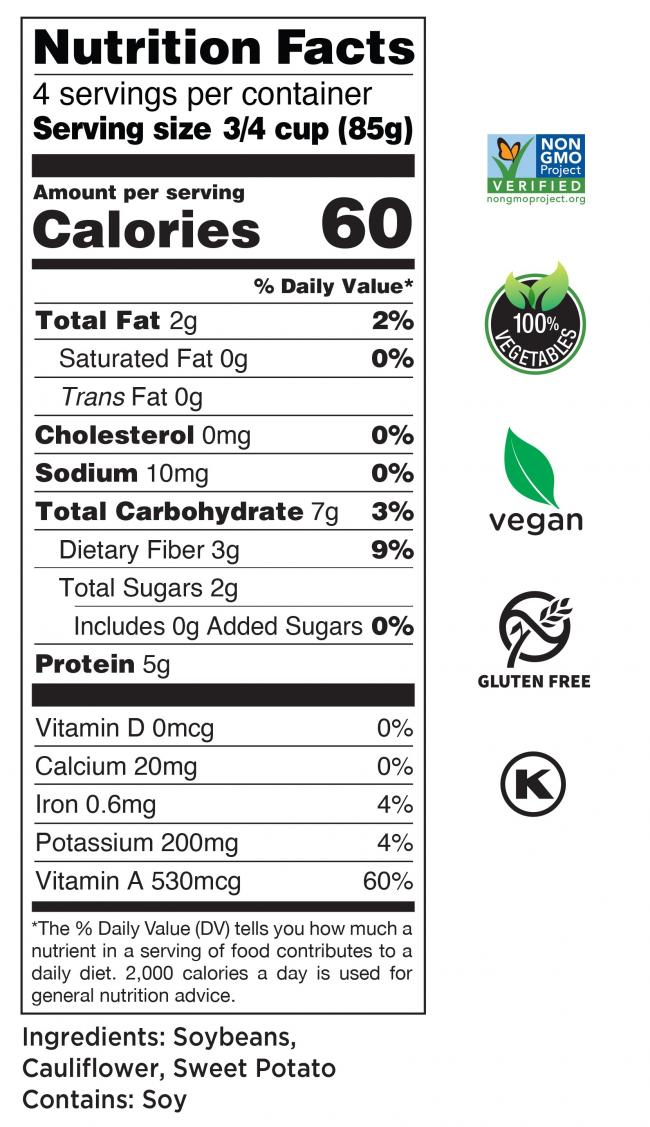 Riced Medley Nutrition Facts