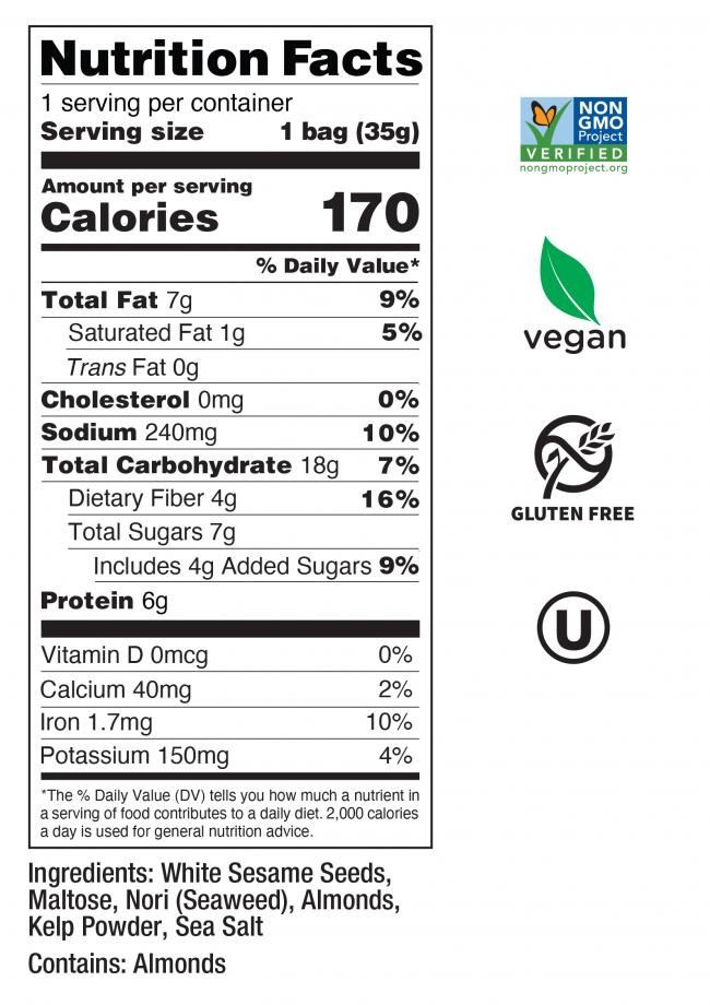 Almond Sesame Nutrition Facts