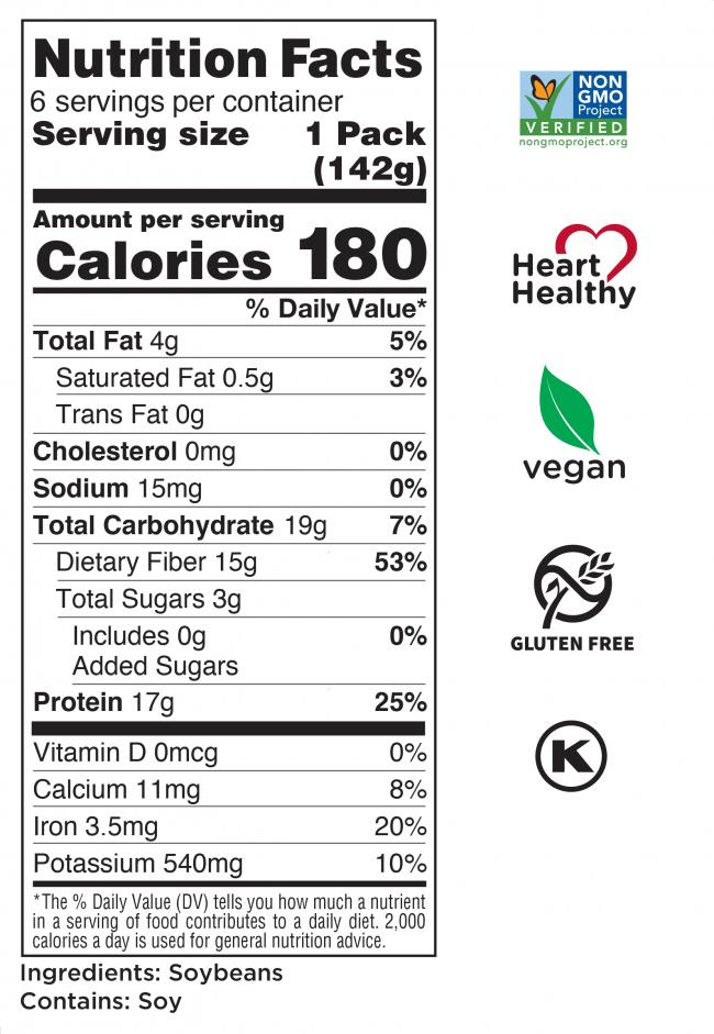 Shelled Soybeans Nutrition Facts